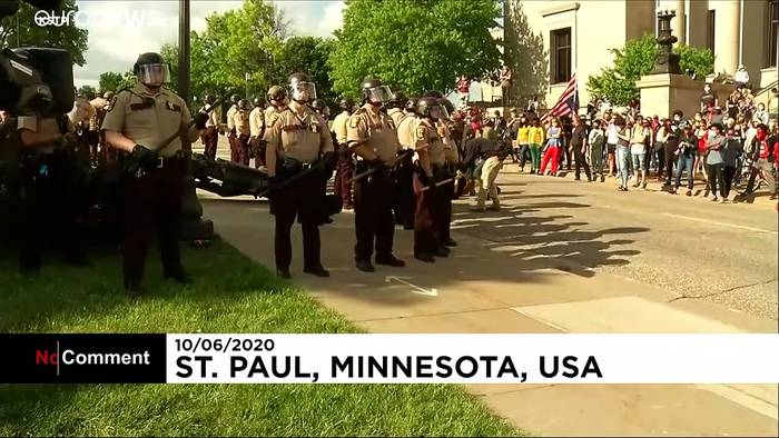 News video: Kolumbus-Status in Minnesota wird umgestürzt