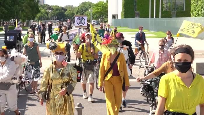 Video: Extinction Rebellion: 24-Stunden-Demo für den Klimaschutz