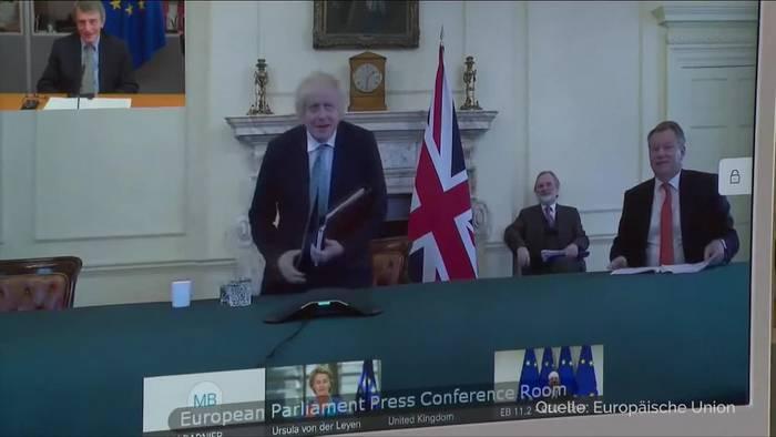 News video: Brexit-Spitzengespräch: Verhandlungen brauchen neuen Schwung
