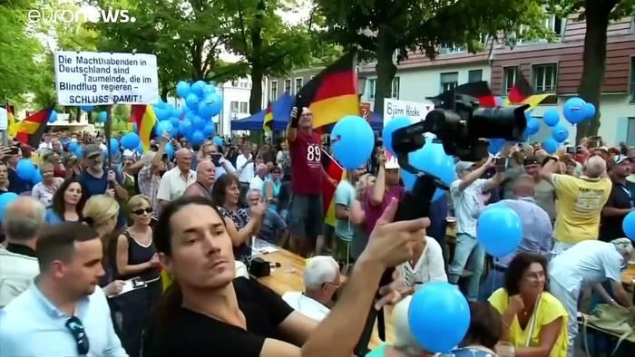 News video: Brandenburg: Verfassungsschutz beobachtet AfD