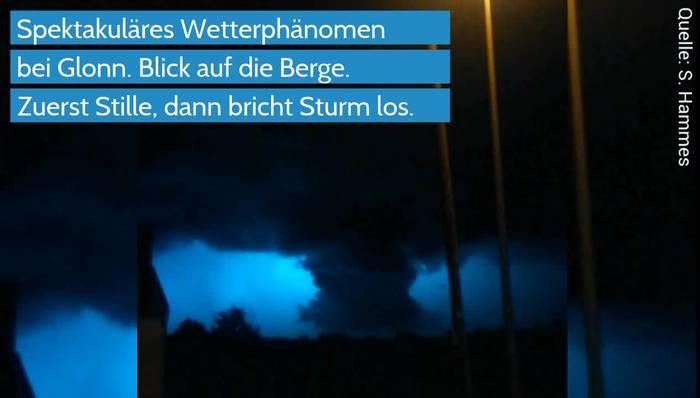 Video: Tornado oder Trichterwolke? Spektakuläres Wetterphänomen in Bayern