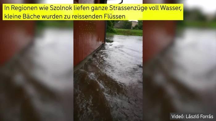 Video: Überflutungen: Schwere Unwetter in Ungarn!