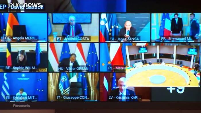 Video: Virtueller EU-Gipfel berät über Konjunkturpaket