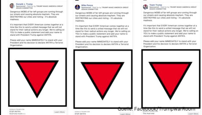 News video: Facebook löscht Werbung Trumps wegen Nazi-Symbol