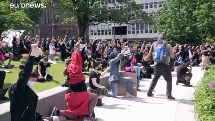 News video: Anti-Rassismus-Demos in Großbritannien und Frankreich