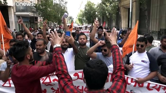 News video: UN-Weltflüchtlingstag: Demos in Athen und Paris