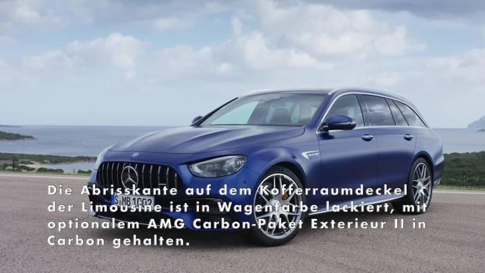 News video: Der neue Mercedes-AMG E 63 S 4MATIC+ T-Modell - Neues Heckdesign vermittelt mehr Eleganz und Leichtigkeit