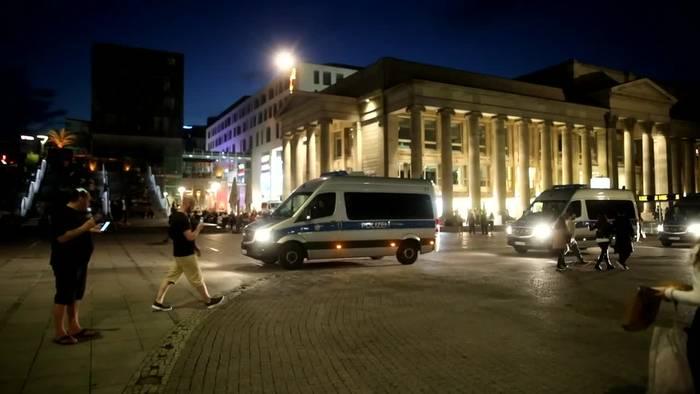 Video: Nach Krawallen in Stuttgart - Nacht zum Samstag bleibt ruhig