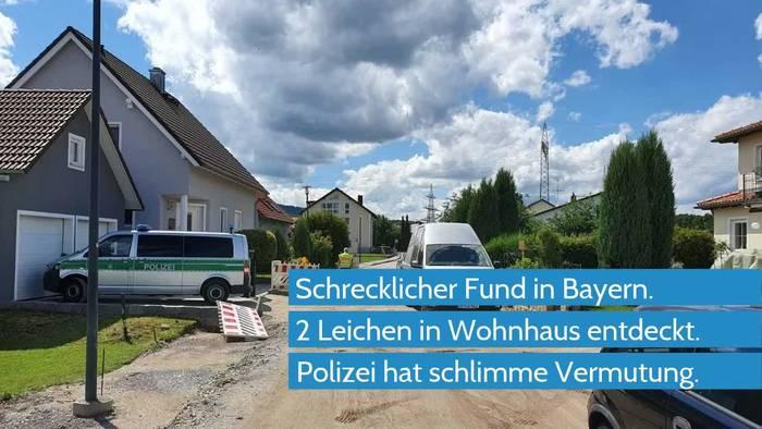 News video: Zwei Leichen im Einfamilienhaus - Rätsel um Tote in Bayern