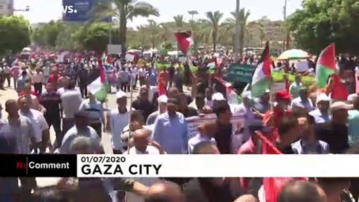 News video: Gazastreifen: Protest gegen Israels Annexionspläne im Westjordanland