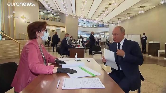 News video: Abstimmung über Putin-Verfassung geht zu Ende
