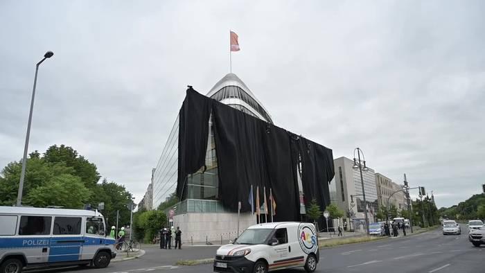 Video: Anti-Kohle-Protest von Greenpeace auf CDU-Zentrale