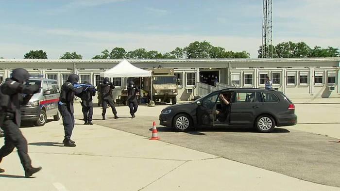 Video: Bilaterale Grenzschutzübung in Nickelsdorf: