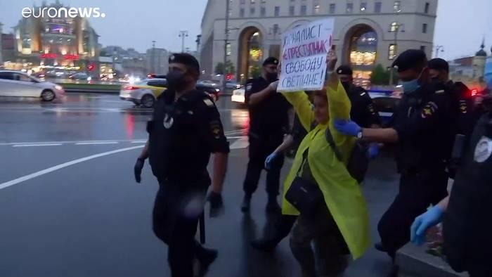 News video: Wütende Proteste vor Urteil gegen Journalistin in Russland