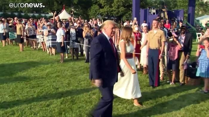 """News video: Trump: Schutz der Freiheit und Kampf gegen """"Linksradikale"""