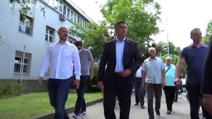 News video: Kroatien wählt Parlament - Regierende Konservative klar in Führung
