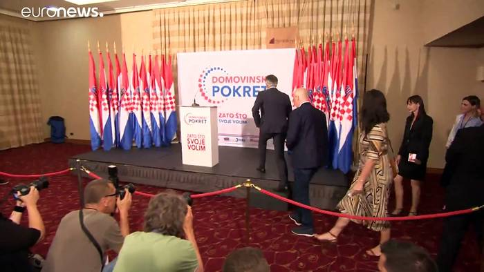 News video: Rechtspopulistischer Schlagerstar Skoro erreicht in Kroatien 10%