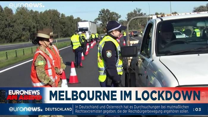 News video: Merkel will gemeinsam durch die Krise, wer macht mit? Euronews am Abend 08.07.