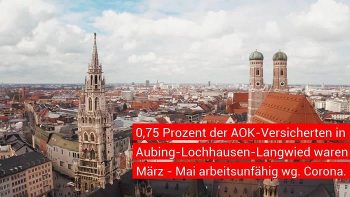 News video: Wo und bei wem tritt Corona in München am häufigsten auf?