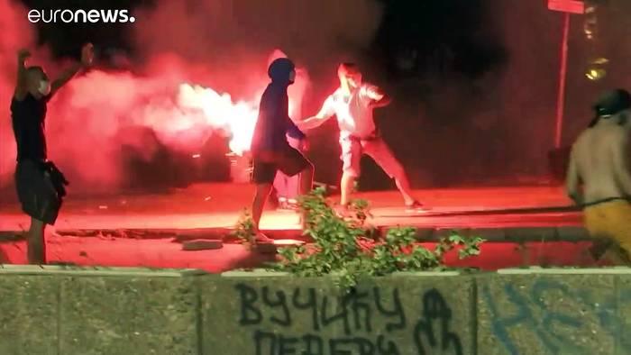 News video: Wegen Corona-Ausgehverbot: Erneut Krawalle in Belgrad