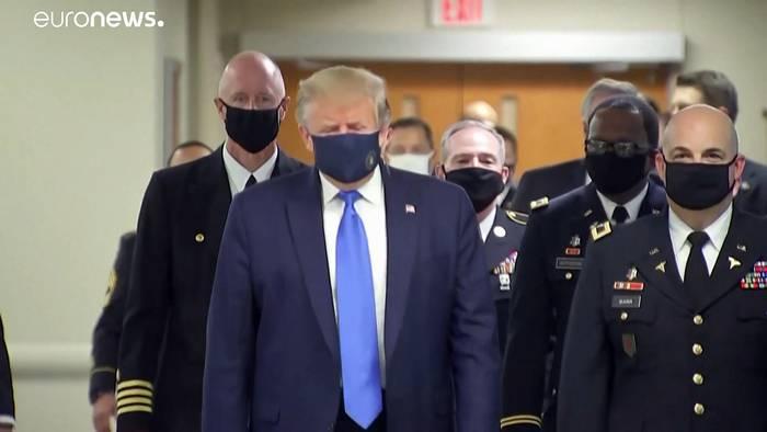 News video: Trump jetzt mit Maske