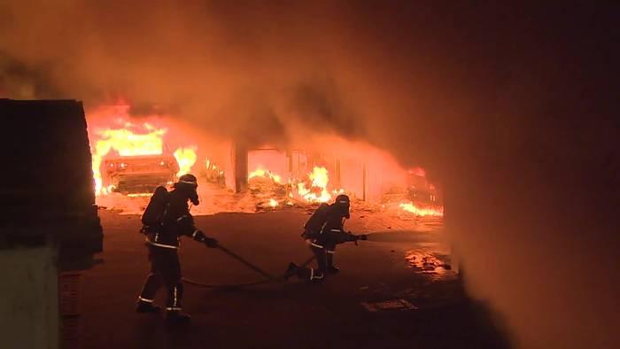 News video: Berlin: Großbrand in Tiefgarage - Auch Wohnhaus betroffen