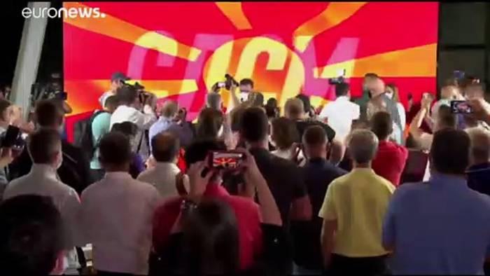 News video: Nordmazedonien: Sozialdemokraten erklären Sieg