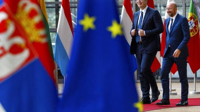 News video: Erstmals nach 20 Monaten - Serbien-Kosovo-Gespräche in Brüssel