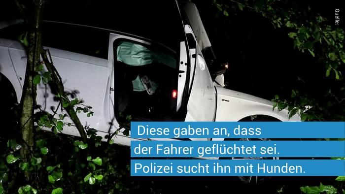 News video: Fahrerflucht? Mysteriöser Unfall in Neuhof bei Nürnberg