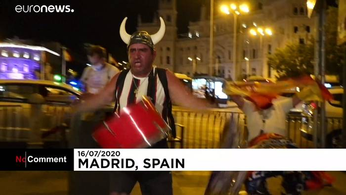 News video: Fans feiern 34. Meisterschaft von Real Madrid