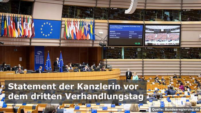 News video: Bundeskanzlerin Merkel: Heute ist der entscheidende Verhandlungstag!