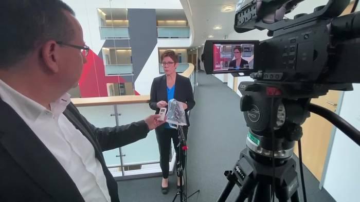 News video: Kramp-Karrenbauer: CDU-Vorsitz und Kanzlerkandidatur