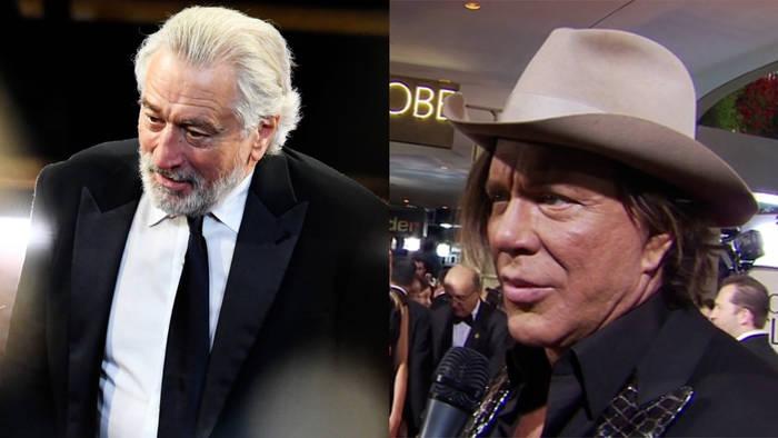 News video: Mickey Rourke v Robert De Niro: Alte Feindschaft flammt wieder auf