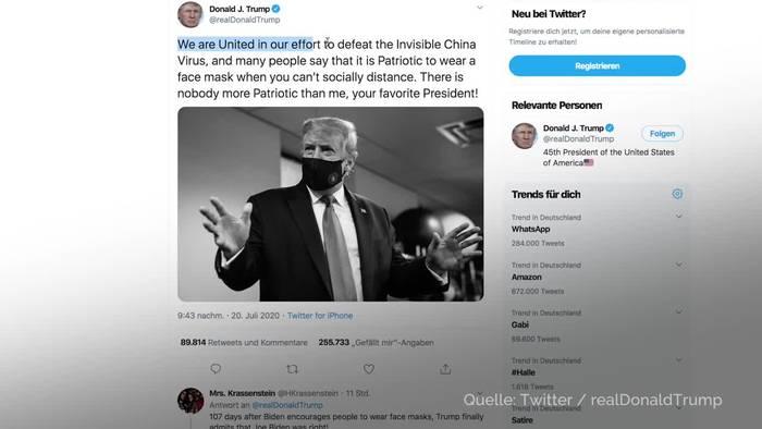 News video: Trump: Tragen von Maske und Patriotismus hängen zusammen