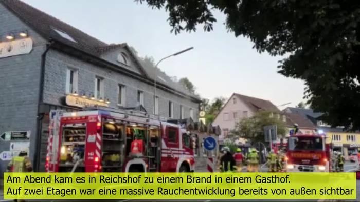 News video: Feuer in Gasthof - Feuerwehr mit besonderer Vorsicht bei Löscharbeiten!