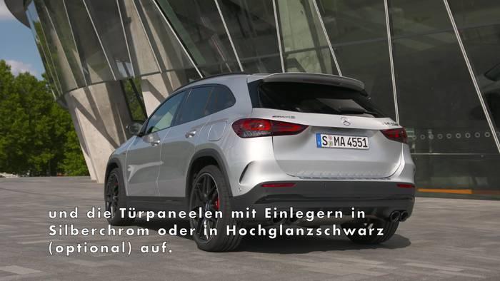 News video: Der neue Mercedes-AMG GLA 45 4MATIC+ - Athletisches und muskulöses Exterieur
