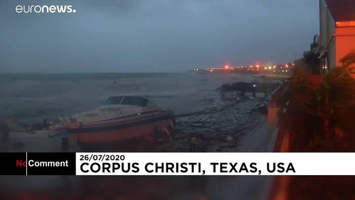 Video: Texas: 1. Atlantik-Hurrikan der Saison trifft auf Land