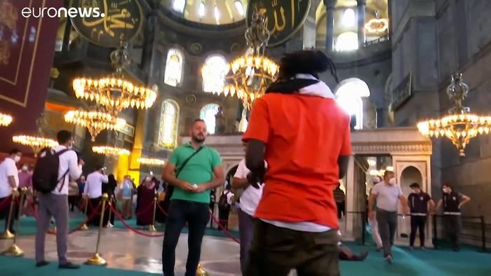 News video: Hagia Sophia: Großer Andrang am ersten Wochenende nach der Umwidmung