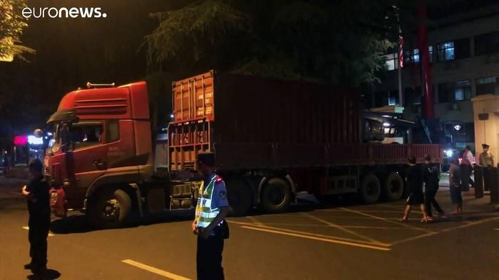 News video: US-Diplomaten verlassen Konsulat in Chengdu