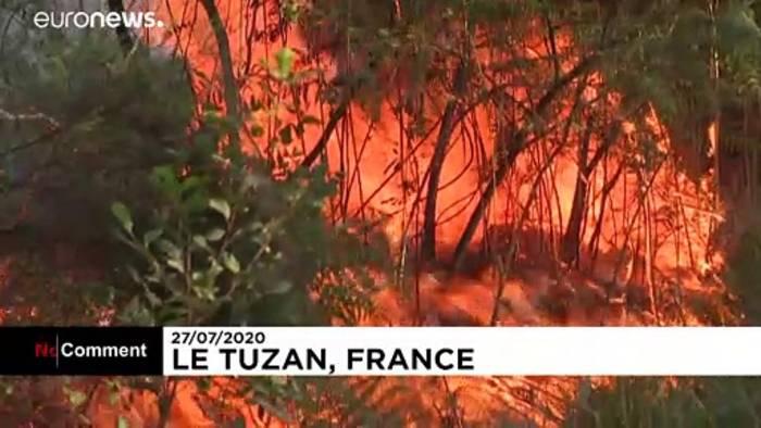 News video: Gironde: Waldbrand vernichtet hunderte Hektar Pinienwald