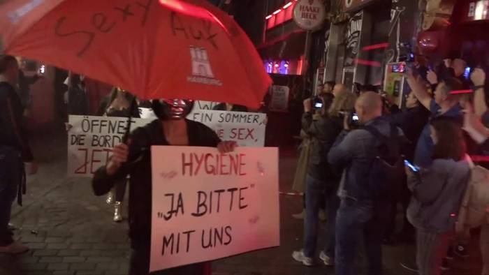 News video: St. Paulis Prostituierte protestieren gegen Corona-Lockdown