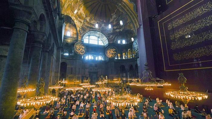 News video: [CDATA[Zum ersten Mal nach 86 Jahren: Eid al-Adha in der Hagia Sophia]]