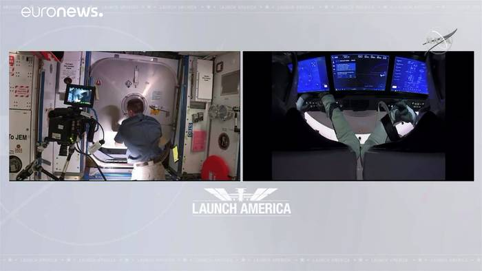 News video: Trotz Hurrikan vor Florida: ISS-Astronauten kehren zurück