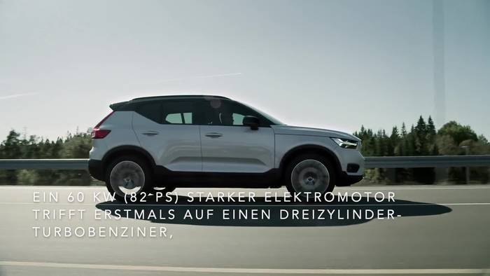 News video: Doppelte Kraft, mehr Effizienz - Volvo XC40 jetzt mit Plug-in-Hybridantrieb im Handel