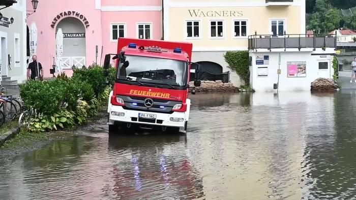 News video: Nach Dauerregen: Hochwasserlage in Bayern entspannt sich