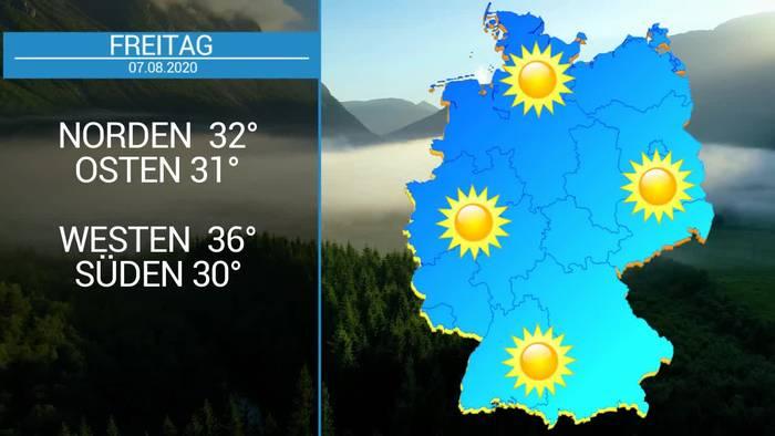 News video: Das Deutschland-Wetter:  5-Tage-Trend - Hochsommer und bis zu 35 Grad, aber auch Wärmegewitter