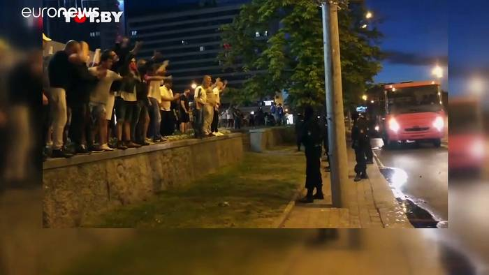 News video: Belarus: Polizeigewalt gegen friedliche Demonstranten