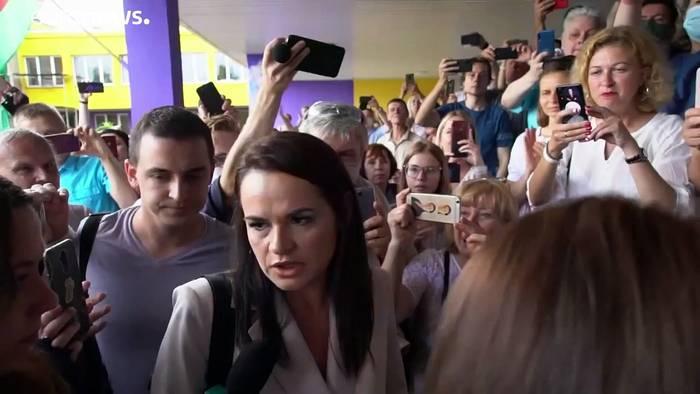 News video: Swetlana Tichanowskaja: