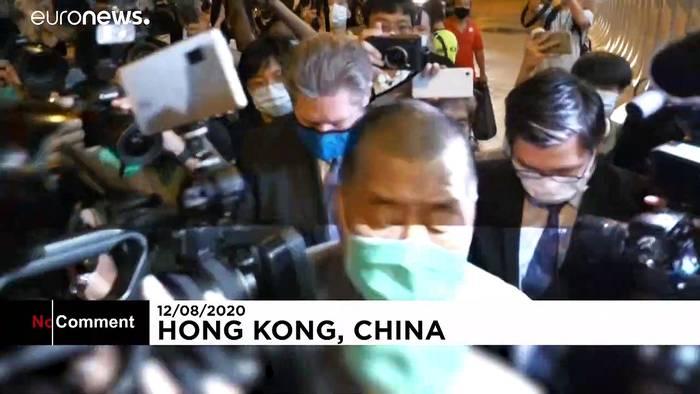 News video: Hongkong: Verleger Jimmy Lai wieder auf freiem Fuß