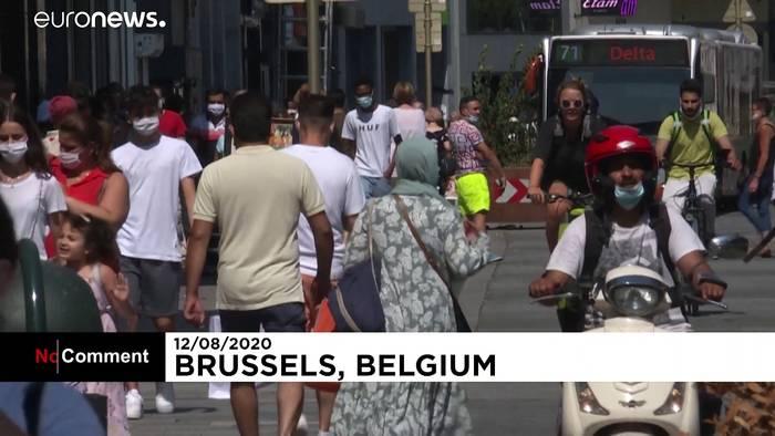 News video: Ab 12 Jahren: Maskenpflicht überall in Brüssel